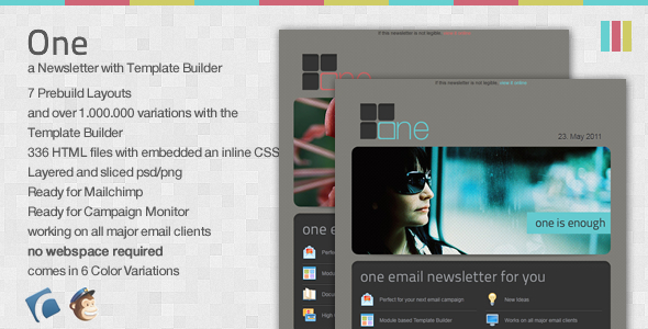 One - Email Newsletter with Template Builder