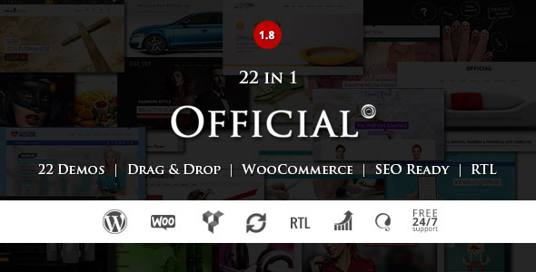 Official - Responsive Multipurpose WP Theme