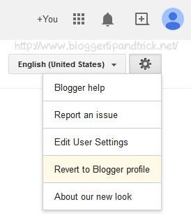 Revert to Blogger profile