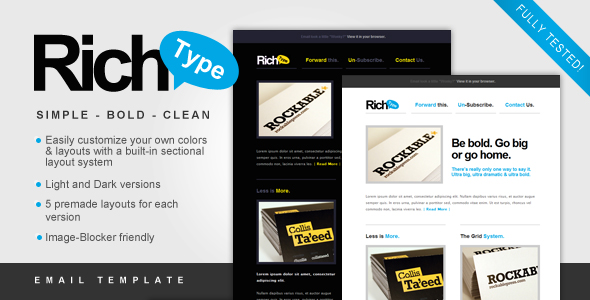 Rich - Typography Email Template