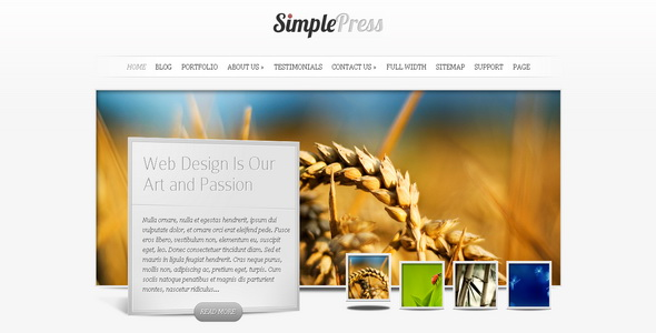 SimplePress - WordPress Theme