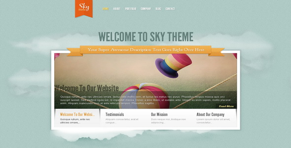 Sky - WordPress Theme