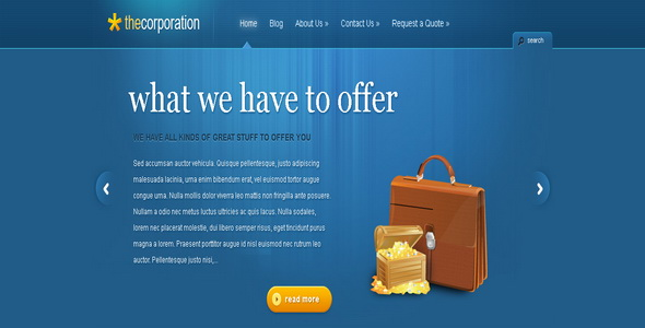 The Corporation - WordPress Theme