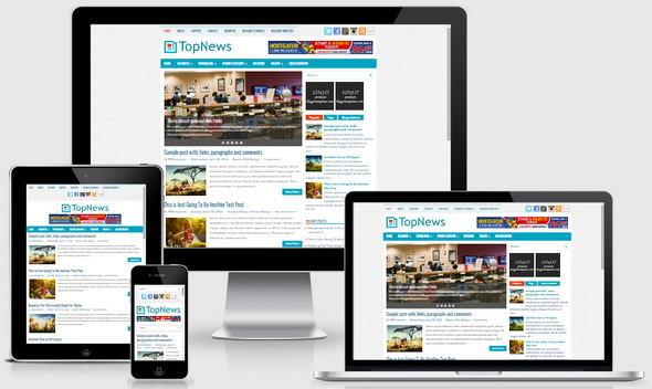 TopNews Blogger Template