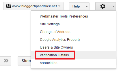 Verification Details - Google Webmaster Tools