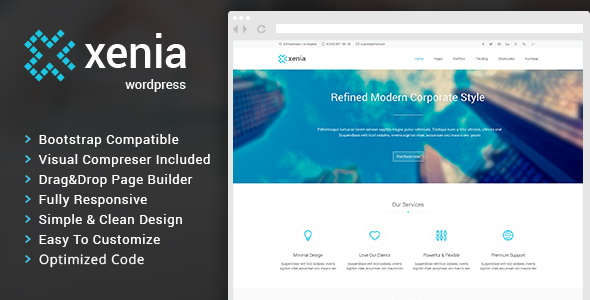 Xenia - Refined WordPress Corporate Theme
