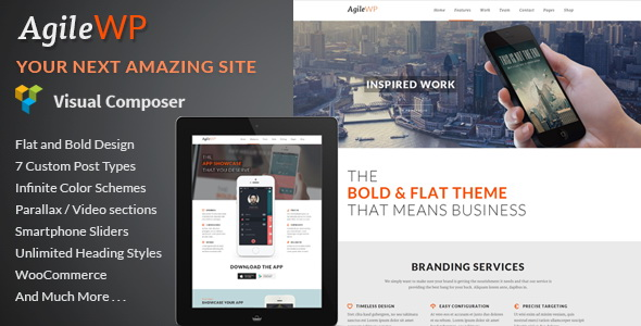 01: Agile - Multi Purpose App Showcase WordPress Theme