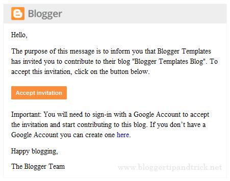 Blogger Invitation Email