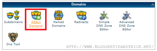 Go to Addon Domains