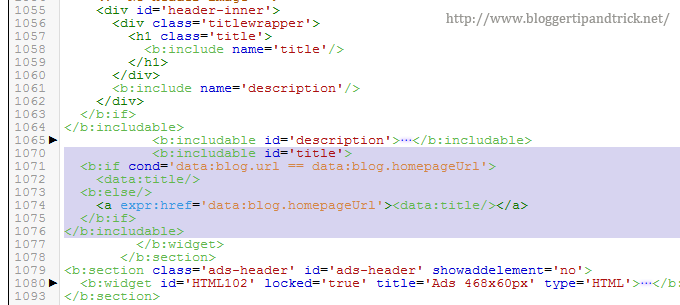 Linking Blog Title into Homepage
