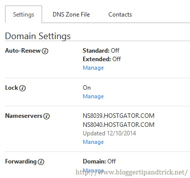 New Nameservers Added to Your Domain