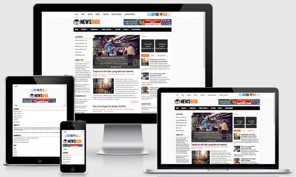 NewsSeven Blogger Template
