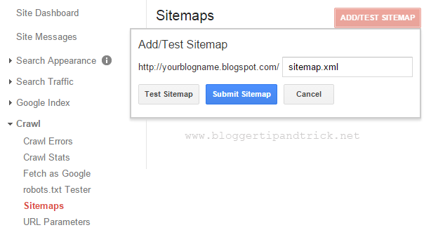 How to add sitemap to Google Webmaster Tools (GWT)