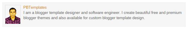 Author Profile Box in Blogger