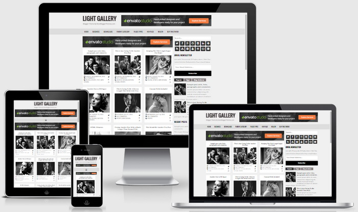 Light Gallery Blogger Template