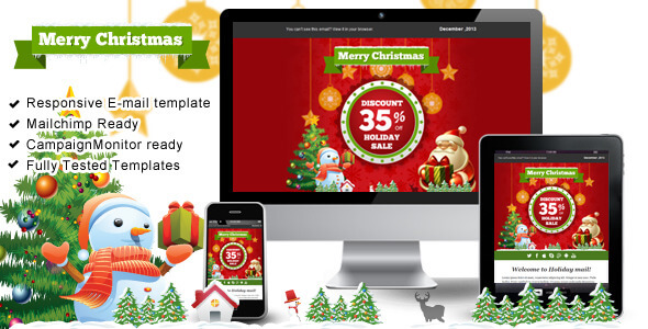 Christmas Newsletter Email Templates for you