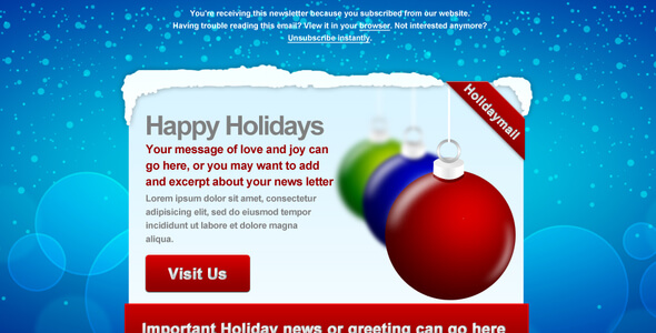 Holiday Mail Email Template