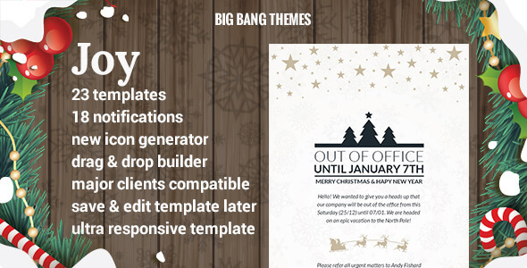 Joy - Christmas Bundle Email + Builder Access