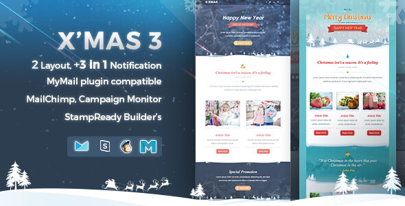 Xmas 3 - Responsive Email Template