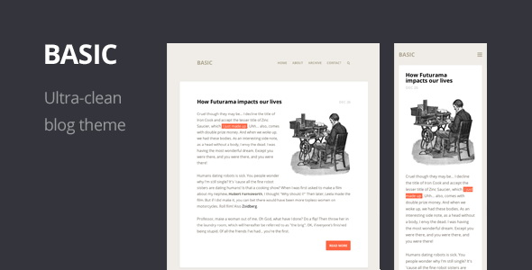 Basic - Ultra-clean Responsive WordPress Theme