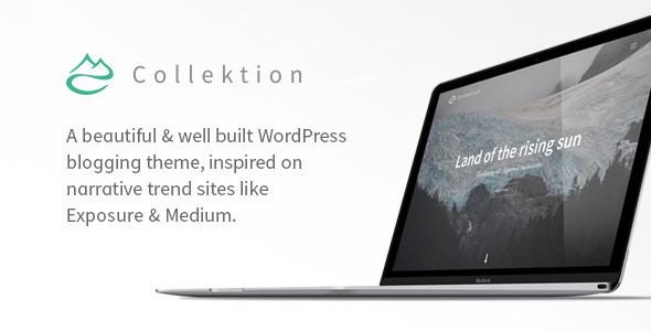 Collektion - Storytelling WordPress Theme