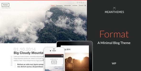 Format - A Minimal WordPress Blog Theme