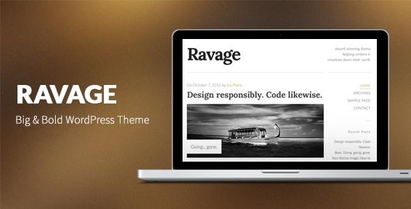 Ravage - Big & Bold WordPress Theme