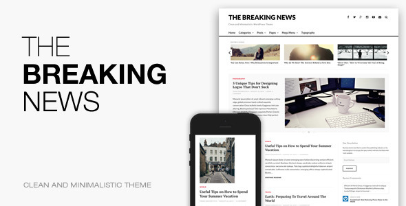 The Breaking News - Responsive WordPress Theme