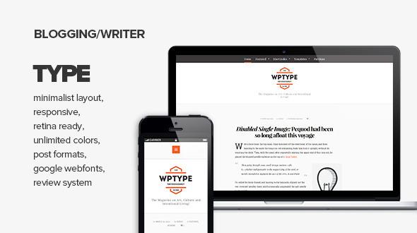 Type - Clean & Minimalist Blogging Theme