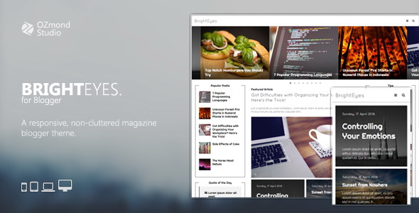 BrightEyes Blogger Template