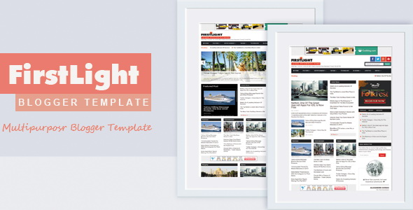 FirstLight Blogger Template