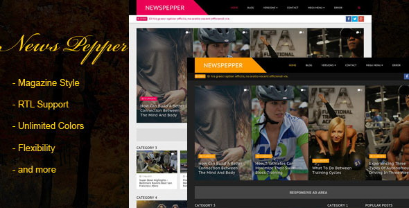 NewsPepper Blogger Template