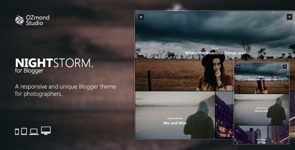 NightStorm Blogger Template