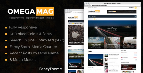 OmegaMag Blogger Template