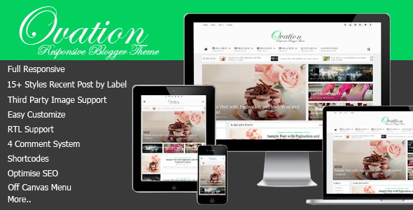Ovation Blogger Template