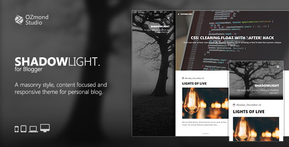 ShadowLight Blogger Template