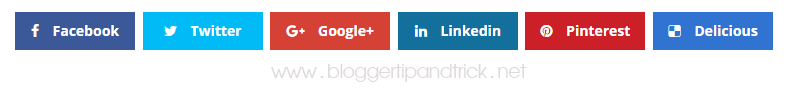 Flat UI Share Buttons to Blogger