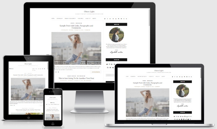 Olsen Light Blogger Template