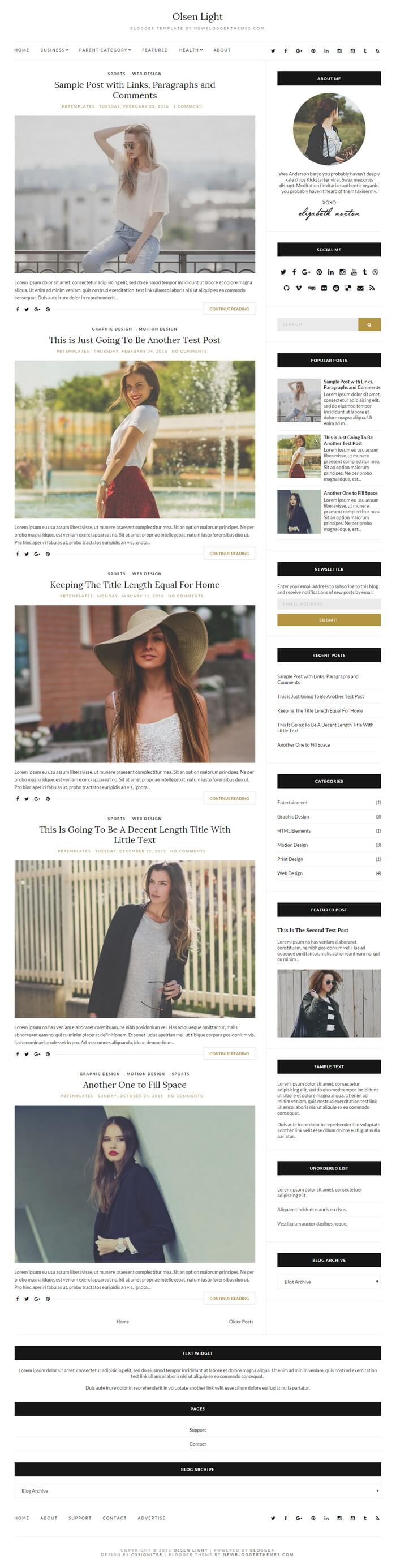 Olsen Light Blogger Theme