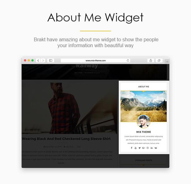About Me Widget - Brakt Blogger Template