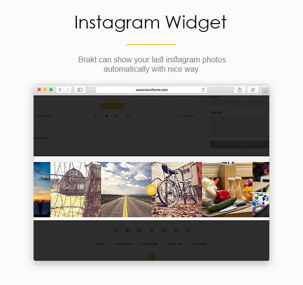 Instagram Widget - Brakt Blogger Template