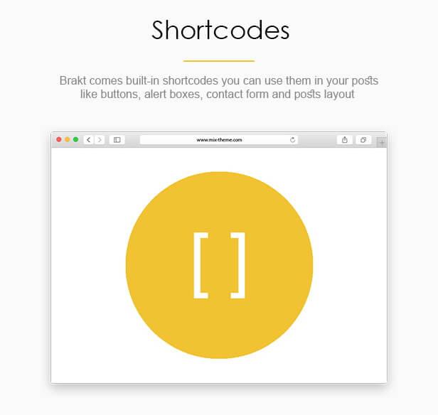 Shortcodes - Brakt Blogger Template
