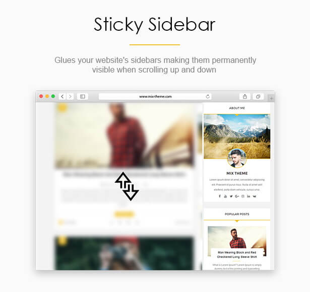 Sticky Sidebar - Brakt Blogger Template