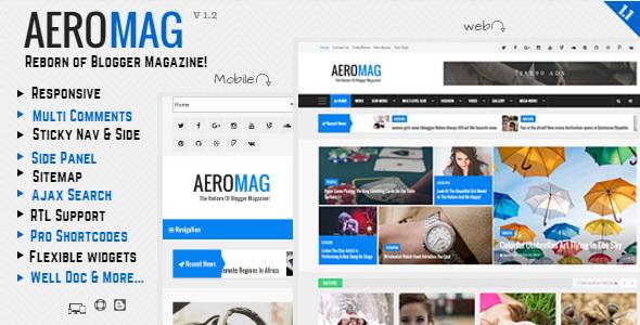AeroMag Blogger Template