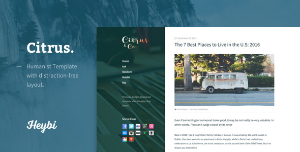 Citrus Blogger Template