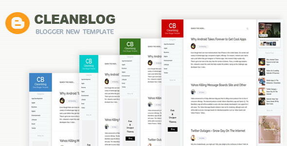 Cleanblog Blogger Template