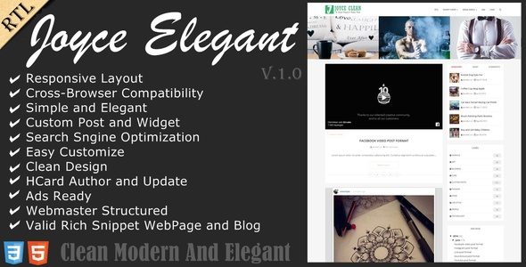 Joyce Blogger Template
