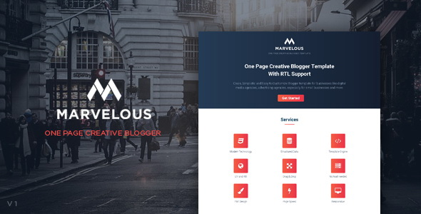 Marvelous Blogger Template