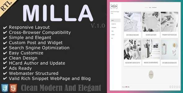 Milla Blogger Template