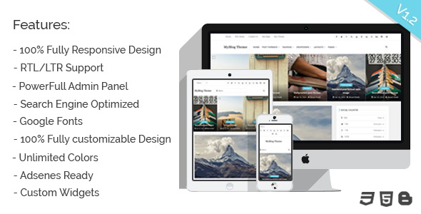 MyBlog Blogger Template